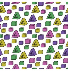 Seamless pattern with colorful shapes vector