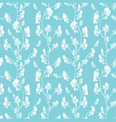 Seamless pattern with realistic graphic flowers - vector