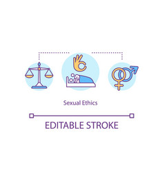 Sexual ethics concept icon vector