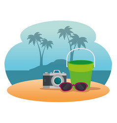 summer holidays on beach poster vector image