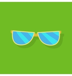Sunglasses Icon Silhouette vector image
