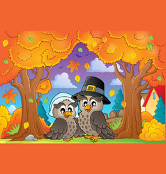 Thanksgiving theme image 6 vector