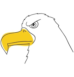 The eagle vector image