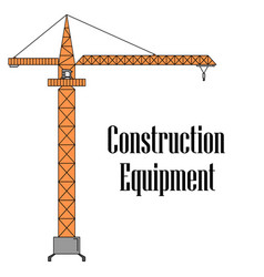 The tower crane vector