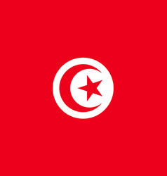 Tunisia flag flat vector