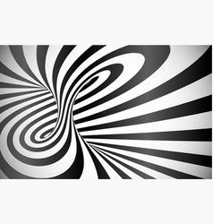 twisted stripes optical illusion abstract vector image