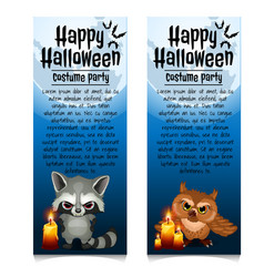 two vertical cards on theme halloween vector image