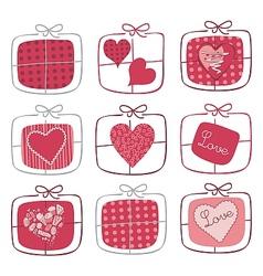 Valentine Gifts Set vector image