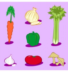 vegetable icons 1 vector image