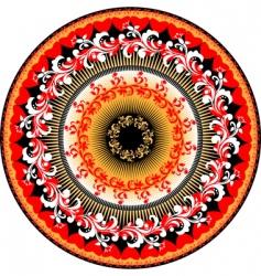 woven circle frame vector image