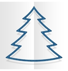 Blue Sequins Christmas Tree Winter New Year vector image vector image