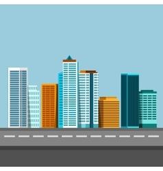 flat of city urban landscape vector image