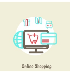 infographics background E-commerce vector image