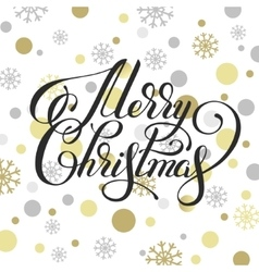 merry christmas hand written calligraphy with vector image