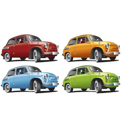vintage classic cars vector image