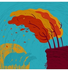 Background autumn forest vector image