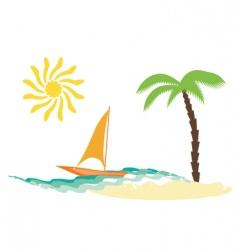 beach elements vector image
