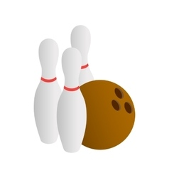 Bowling icon isometric 3d style vector image vector image