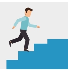 climbing stairs design vector image