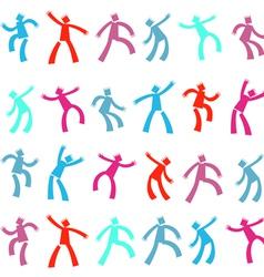 dancing Men vector image vector image