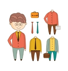 Different Outfits Construction Set vector image vector image