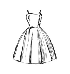 dress drawing hand drawn clothes sketch vector image vector image