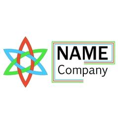 company logo hexagon flower vector image vector image