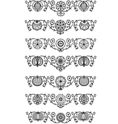 ornament elements vector image vector image