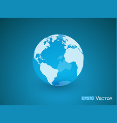 globe transparent blue vector image