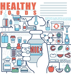 Infographics elements concept of Healthy Foods vector image vector image
