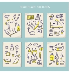 Medical hand draw sketch vector image