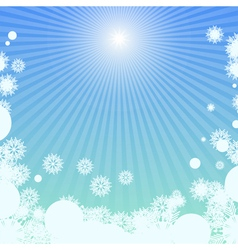 Winter background with sunlight vector image