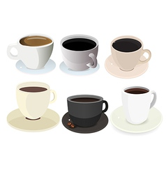 321 Coffee Cup Icon Set vector image