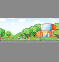 a school building background vector image