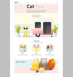Animal website template banner and infographic vector