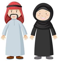 Arab man and woman vector