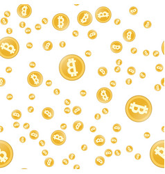 bitcoin seamless pattern simple seamless pattern vector image