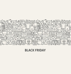 black friday banner concept vector image
