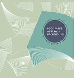 Book pages abstract background vector