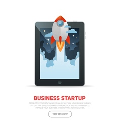 Business start up concept template vector
