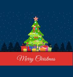 christmas background with decorated christmas vector image