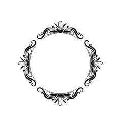 classic black vintage pattern frame vector image