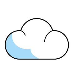 cloud isolated icon vector image