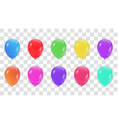 colorful balloons collection holiday of flying vector image
