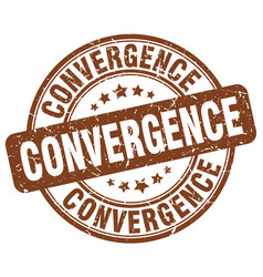 Convergence brown grunge stamp vector