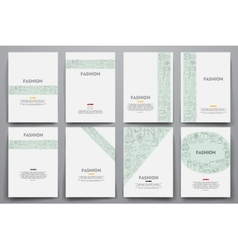 Corporate identity templates set with vector image