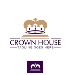 crown house symbol concept vector image