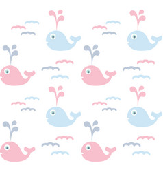 cute dolphin pattern vector image