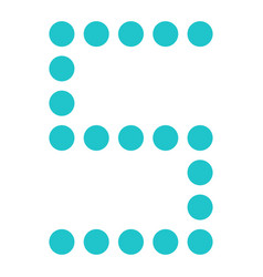 digital letter s display board round dot vector image