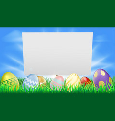 easter sign vector image